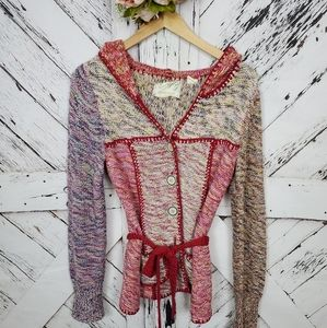 Anthro Sparrow Knitted Cardi XS